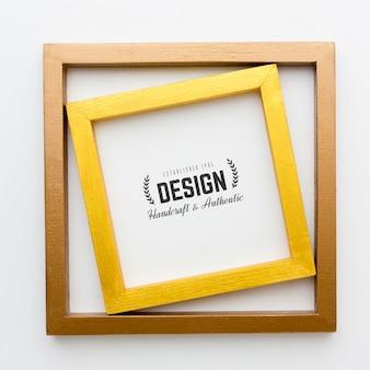 Modell des dekorativen rahmenkonzepts