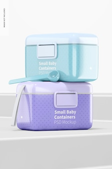 Modell des kleinen babymilchpulverbehälters, perspektive