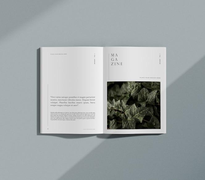 Modell des redaktionsmagazins natur und pflanzen