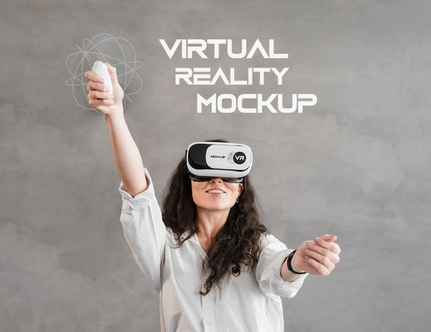 Modell des virtual-reality-technologiekonzepts