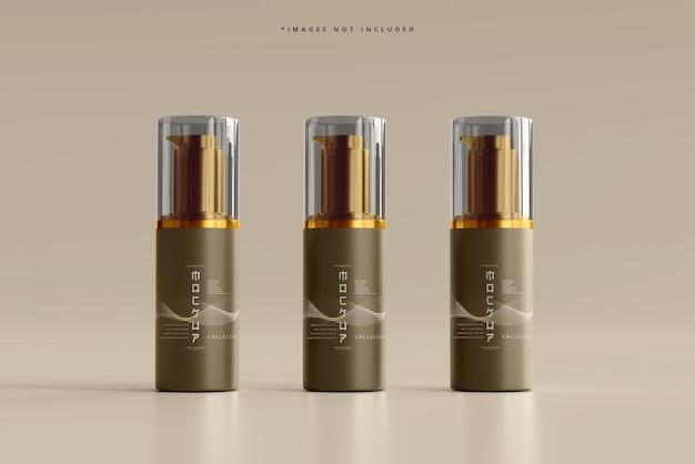 Modell einer kosmetischen pumpflasche