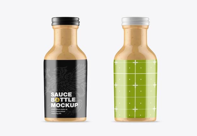 Modell einer saucenflasche