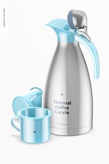 Modell einer thermo-kaffeekaraffe, perspektive
