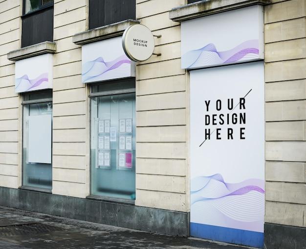 Modell einer vorderansicht eines shops