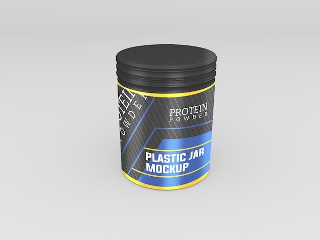 Modell eines proteinpulverglases