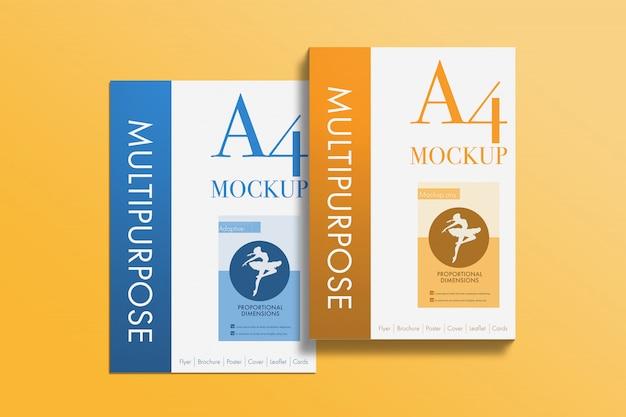 Modell für mehrzweck-a4-papiere