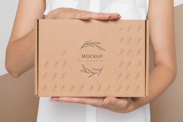 Modell für umweltfreundliche pappkartons
