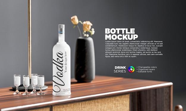 Modell für wodka-flaschenetiketten