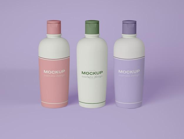 Modell mit drei spenderflaschen