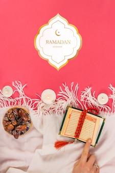 Modell mit ramadan-konzept