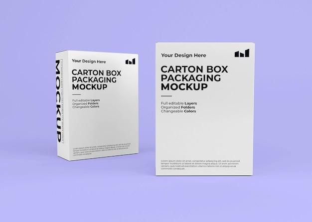 Modell mit zwei pappkartons für das produktbranding