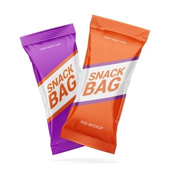 Modell mit zwei snackverpackungen