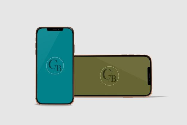 Modell mit zwei telefonen