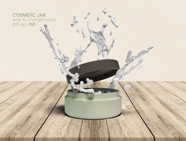 Modell-rendering des kosmetikglasbehälter-modells