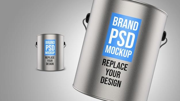 Modell-rendering-entwurf des stahltanks 3d