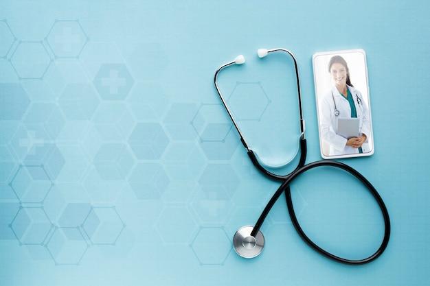 Modell und stethoskop für mobile geräte