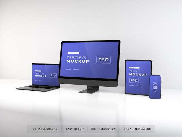 Modell verschiedener digitaler geräte Premium PSD
