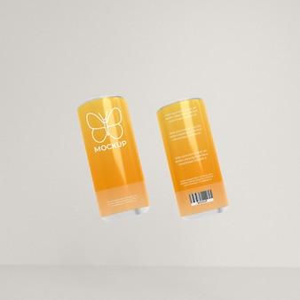Modell von dosen und flaschen aus aluminium