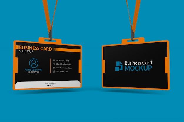 Modell von visitenkarten im ausweishalter