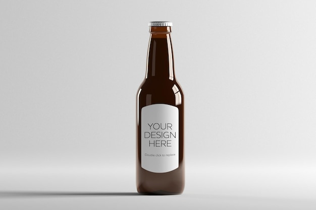 Modellansicht einer glasbierflasche