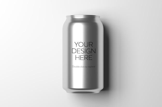Modellansicht eines metalldosen-3d-renderings Premium PSD