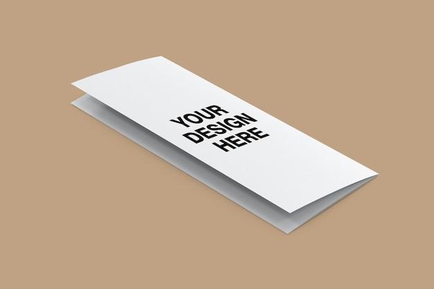 Modelldesign der dreifach gefalteten broschüre