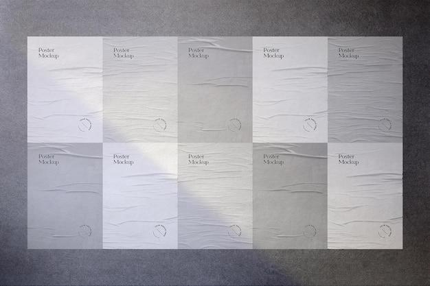 Modelldesign der geklebten wandplakate