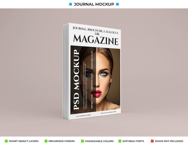 Modelldesign für magazine, zeitschriften oder kataloge