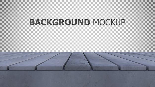 Modellhintergrund für wiedergabe 3d der alten gebrochenen betonplatte