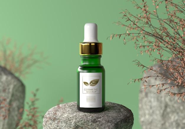 Modellprodukt für kosmetische serumflaschen