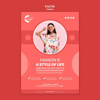 Modeplakatschablone mit foto