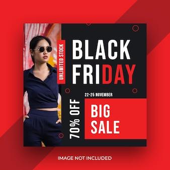 Modeprodukt black friday social media instagram banner