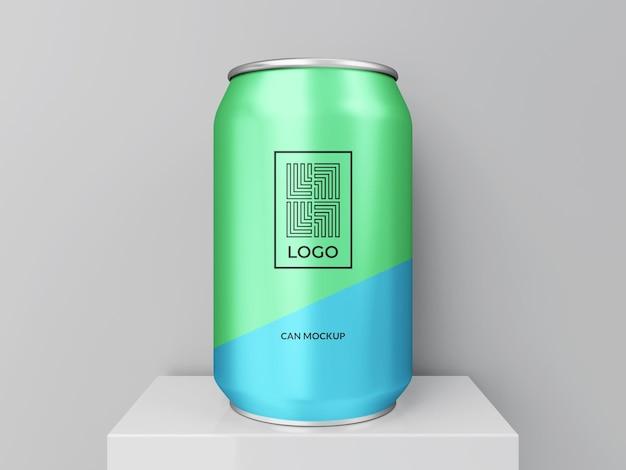 Modern can mockup 3d-rendering