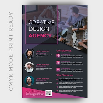 Moderne agentur business flyer design-vorlage