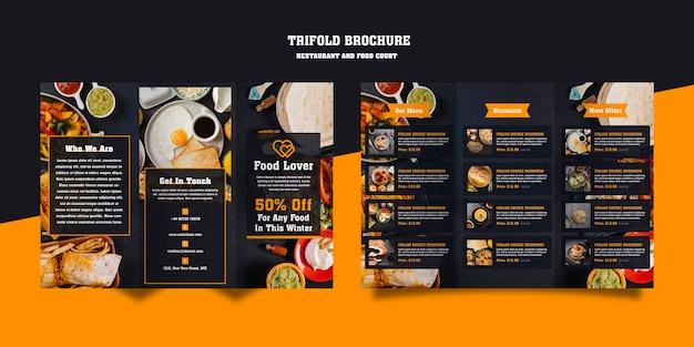 Moderne broschüre für das frühstücksrestaurant