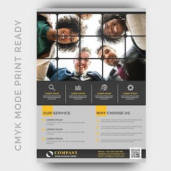 Moderne business-flyer-design-vorlage