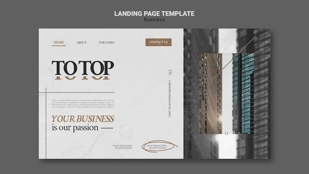 Moderne business-webvorlage