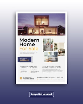 Moderne corporate real estate marketing flyer vorlage