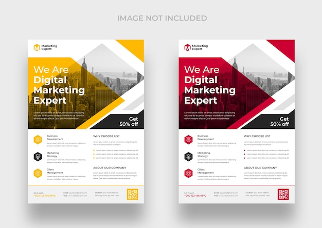 Moderne digitale marketing-flyer-vorlage