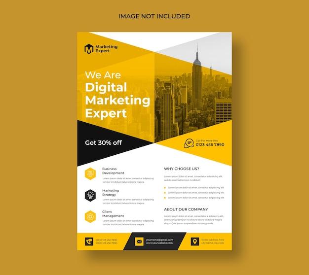 Moderne digitale marketingagentur flyer vorlage
