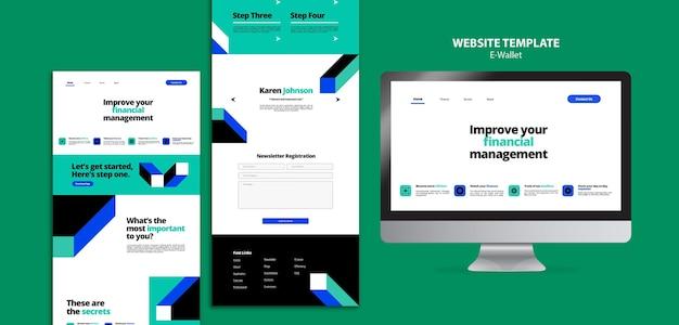 Moderne e-wallet-webvorlage