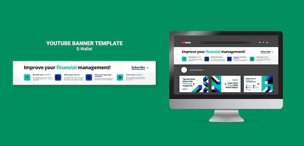 Moderne e-wallet-youtube-banner-vorlage