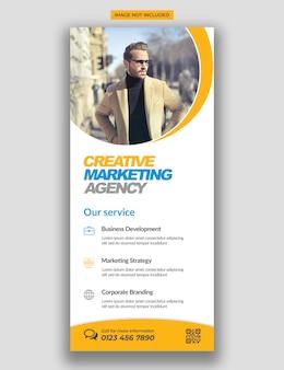 Moderne einfache corporate rollup standee x-banner-vorlage