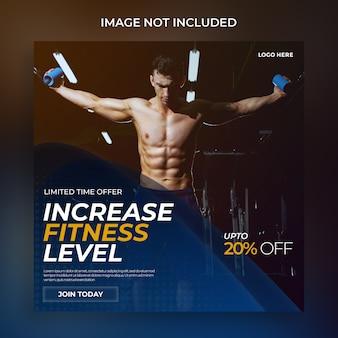 Moderne fitness-social-media-post-vorlage