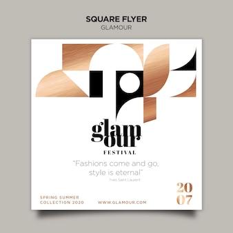 Moderne glamour-flyer-vorlage