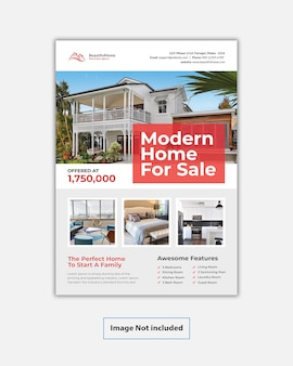 Moderne immobilien-flyer-vorlage
