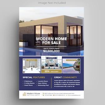 Moderne immobilien flyer vorlage
