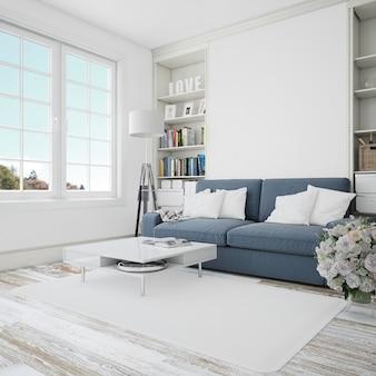 Moderne innenausstattung des wohnzimmers