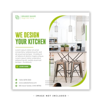 Moderne innenmöbel social-media-facebook-cover und web-banner-vorlage premium psd