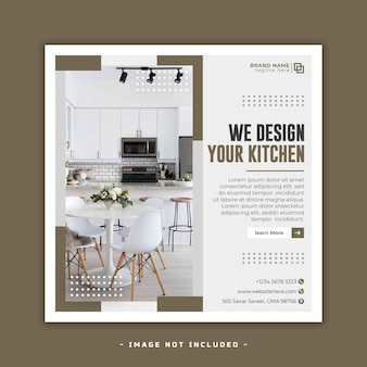 Moderne innenmöbel social-media-facebook-cover und web-banner-vorlage